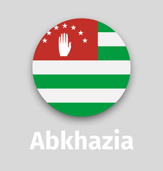 abkhazia flag round icon vector image