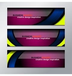 business banner design vector image