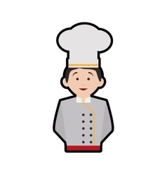 Chefs hat chef man male avatar person icon vector image
