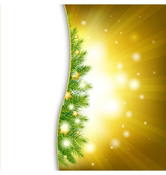 Christmas Background With Gold Stars vector image vector image