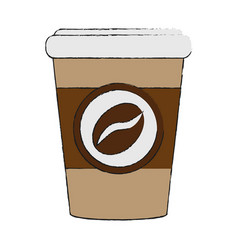 Coffee in disposable cup icon image vector