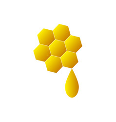honey icon on white background vector image vector image