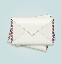 Stack of envelopes vector image
