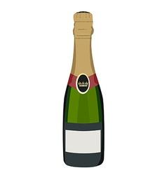 Champagne bottle vector image