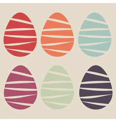 easter eggs set vector image vector image