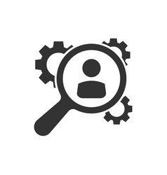 human resources recruitment hr management icon in vector image