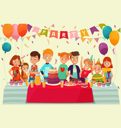 kids party poster vector image vector image