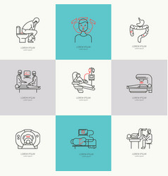 set of icons oncology vector image vector image