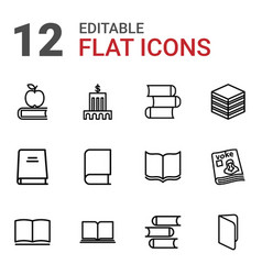12 library icons vector
