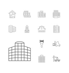 13 distribution icons vector
