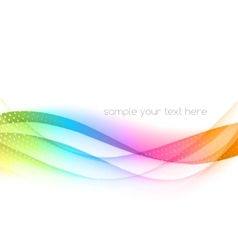 Abstract colorful waved background vector