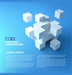 Abstract white cubes concept vector