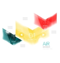 Air light glossy design of arrows Web info box or vector image