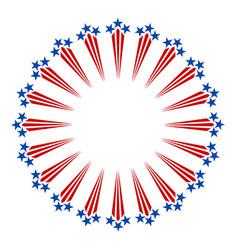 american symbols fireworks frame vector image