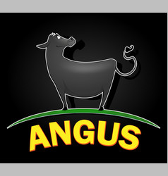Angus cow logo design vector