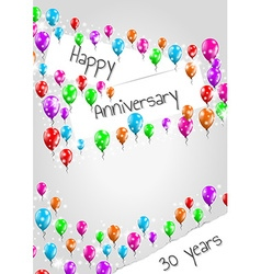 Anniversary poster 30 years vector