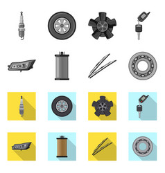 auto and part sign vector image