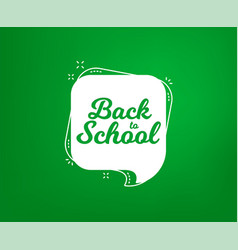 Back to school banner first day of school vector