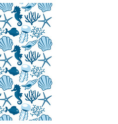 background withwith marine animals summer vector image