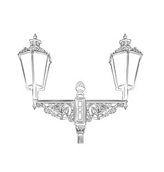 baroque lamp isolated on the white vector image