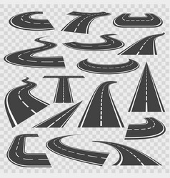 Bending roads and high ways vector