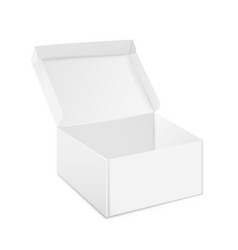 boxes mockup open and closed realistic white vector image