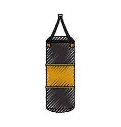 boxing bag equipment vector image