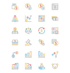 Business and Finance Colored Outline Icons 2 vector