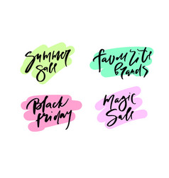 calligraphy summer sale vector image