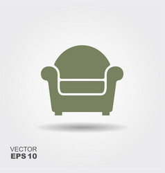 chair flat icon vector image