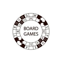 Circle logo board game vector