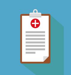 Clinical record prescription medical checkup vector