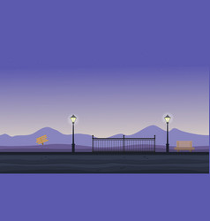 Collection of hill scenery flat vector