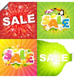 Colorful Sale Posters vector image