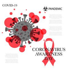 Coronavirus awareness day vector