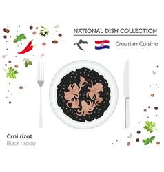 croatian cuisine european national dish vector image