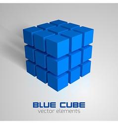 Cube blue vector