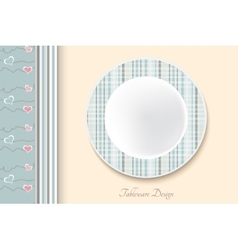 Decorative dishes template vector