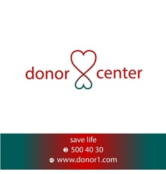 donor center vector image