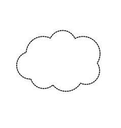 dotted shape cute cloud weather design icon vector image