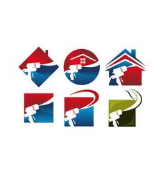 Eco home insulation set vector