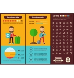 Ecology flat design Infographic Template vector
