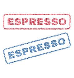 Espresso textile stamps vector