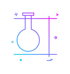 experiment flask icon design vector image