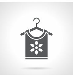 Floral print for clothing glyph style icon vector image