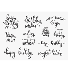 Happy Birthday lettering sign quote typography vector image
