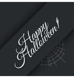 Happy halloween vintage lettering background vector image