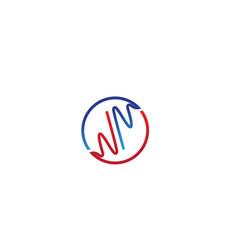 heart beat hospital line logo vector image