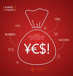 Income and success business infographics vector