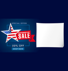 Independence day sale banner template vector